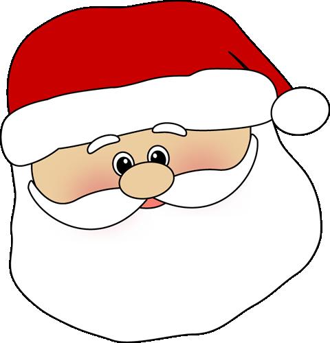 Cute Santa Face Clip Art - Cute Santa Face Image