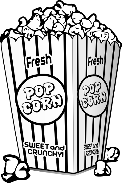 Popcorn Black And White clip art - vector clip art online, royalty ...