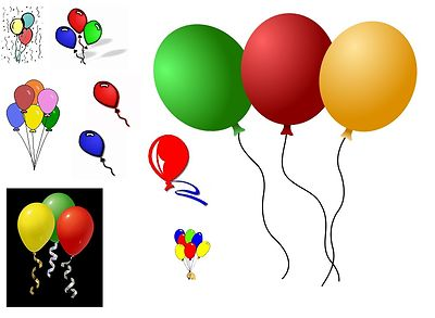 Clipart Of Birthday Balloons