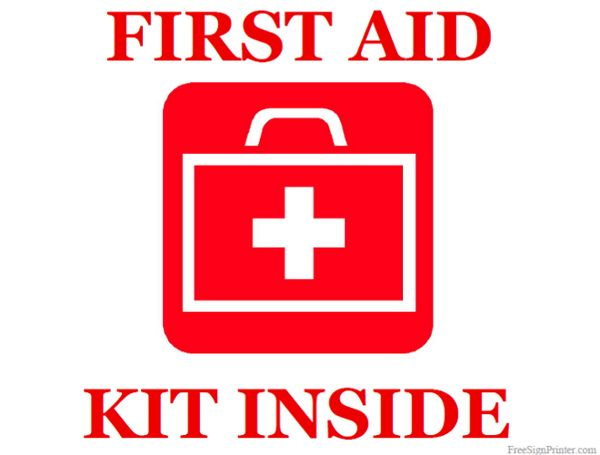 Superb image inside printable first aid sign