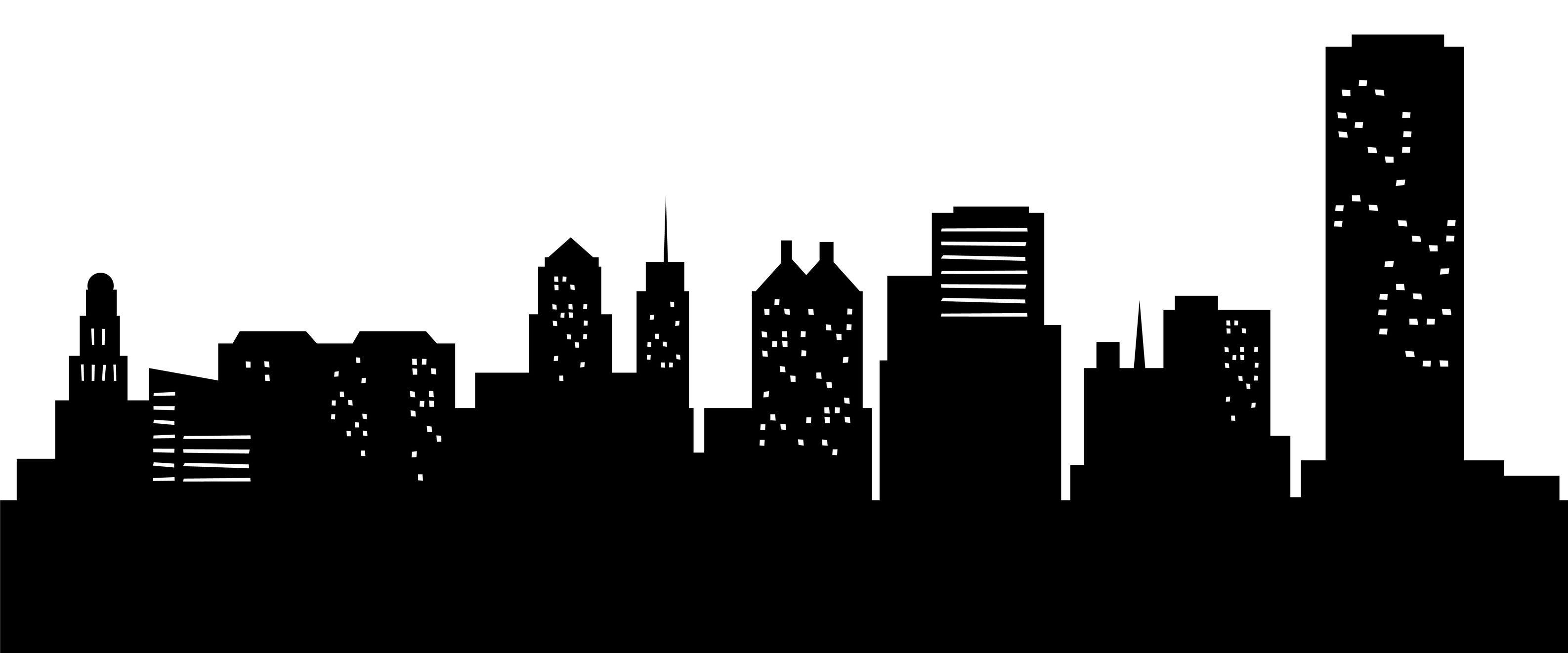 city skyline outline simple - photo #6