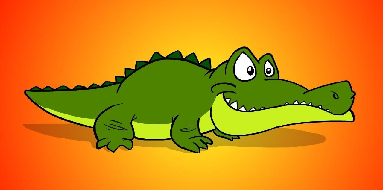 Crocodile cartoon images for Easy to draw crocodile