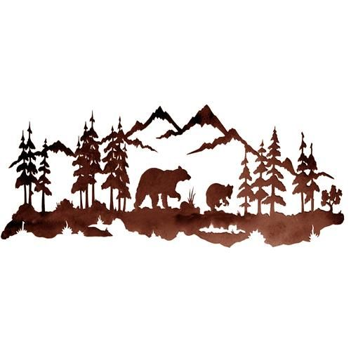 Rocky mountain clip art for Cabin in the woods wall mural