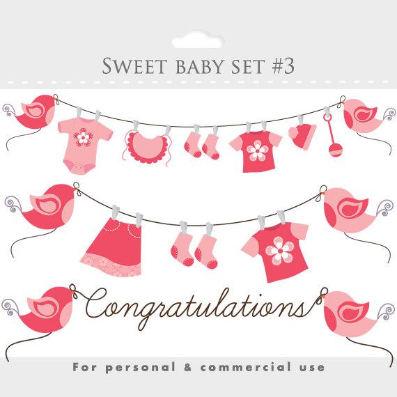 baby girl shower clip art free - photo #49
