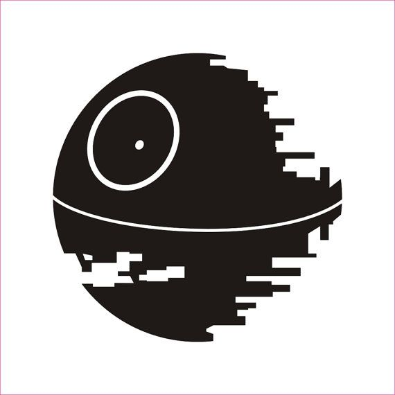 Death Star | Star Wars Silhouettes | Pinterest