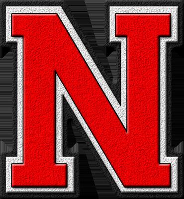 Presentation Alphabets: Scarlet Red Varsity Letter N - Cliparts.co