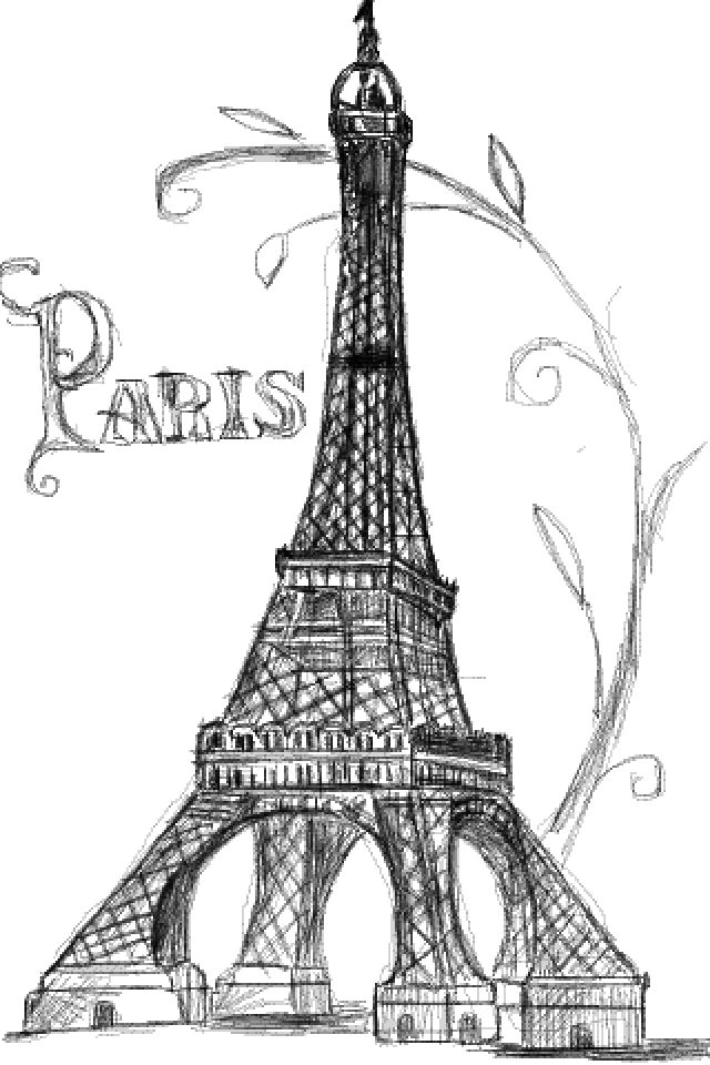 Eiffel Tower Drawing - Cliparts.co