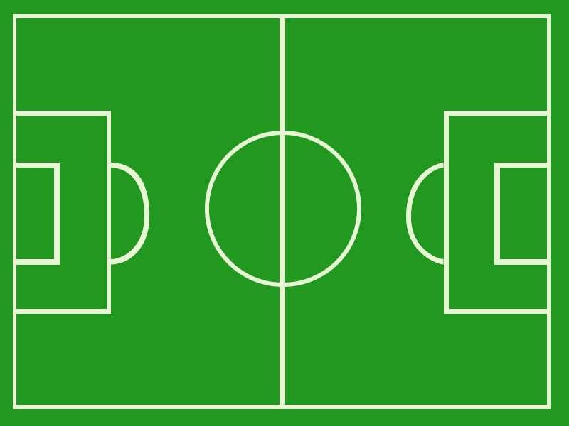 Blank soccer field dimensions