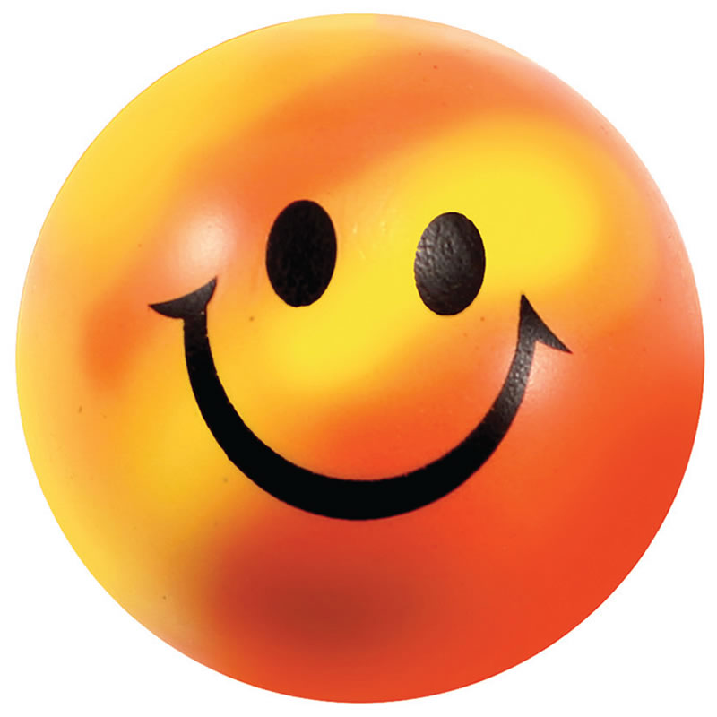 Promotional mood color changing smiley face stress ball