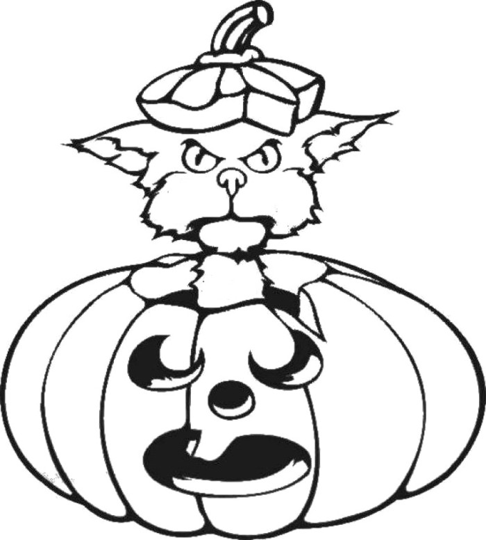 cartoon pumpkins coloring pages - photo#12