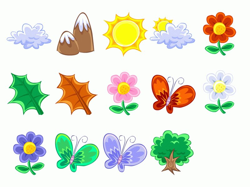 Cartoon Plants And Flowers cartoon butterfly plants