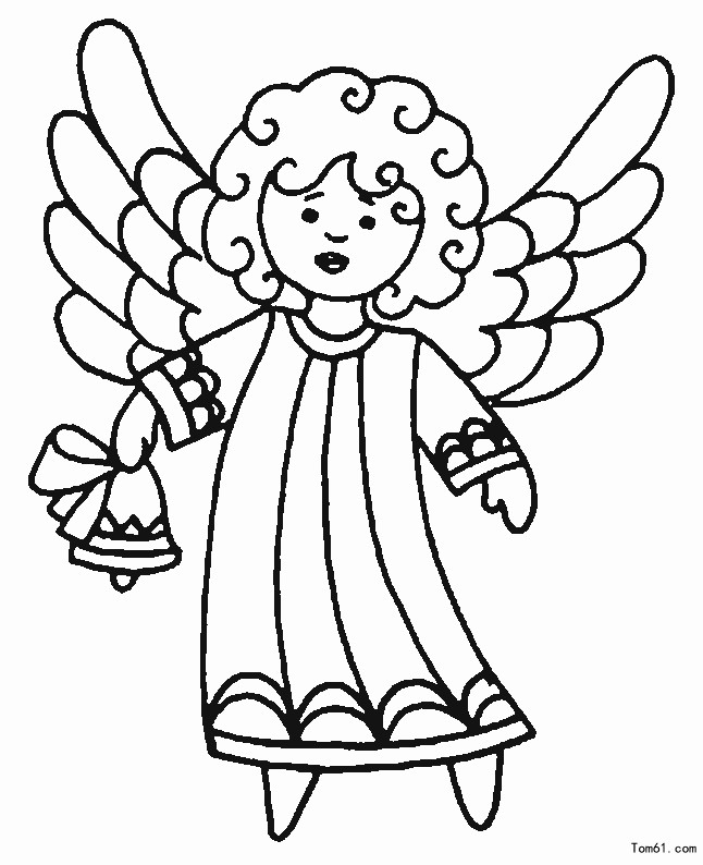 How to draw a beautiful angel 5 - Stick figure-Children's paintings