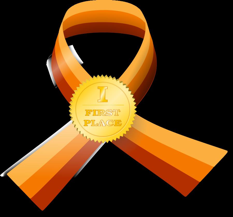 Award ribbon logo design
