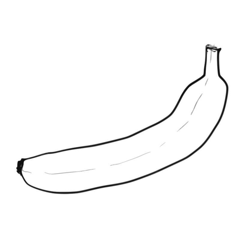 Single Line Chat Art : Banana pictures clip art cliparts