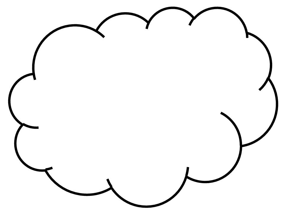 cloud template with lines - cloud line drawing