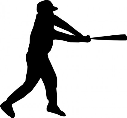 Baseball player silhouette Vector clip art - Free vector for free ...