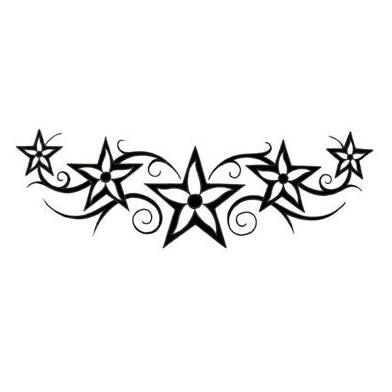 flowers and stars tattoo designs. Black Bedroom Furniture Sets. Home Design Ideas