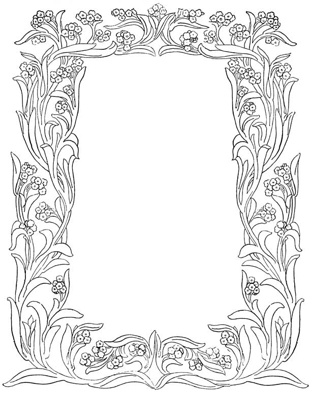 coloring pages flower borders - photo#9