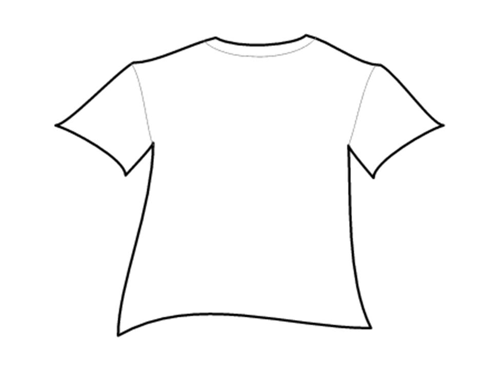 Blank Football Jersey Outline
