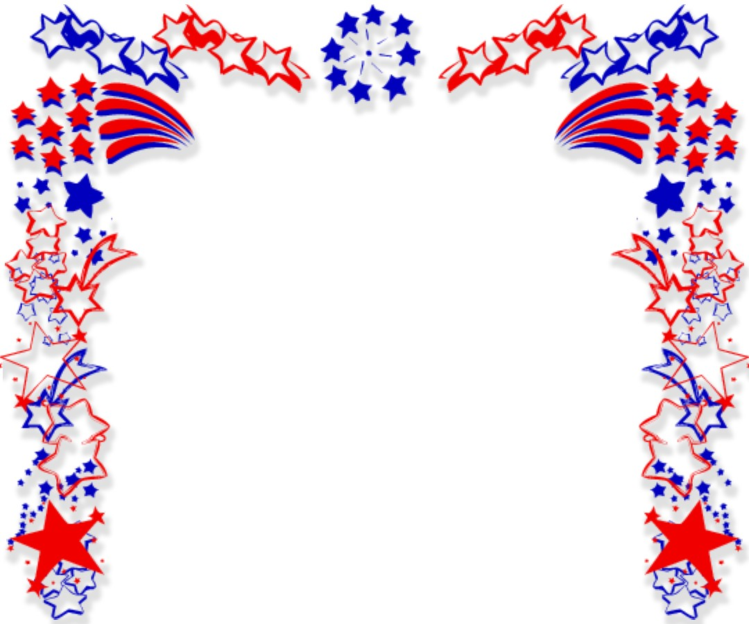 American Flag Page Border - Cliparts.co
