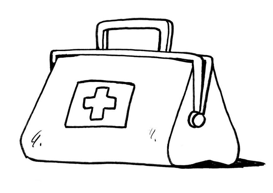 Coloring page doctors bag - img 12114.