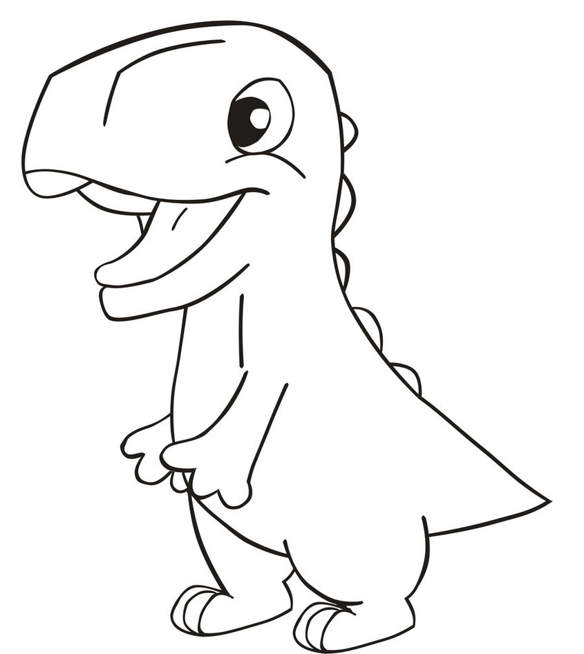 Line Drawing Dinosaur : Dinosaur line drawing cliparts