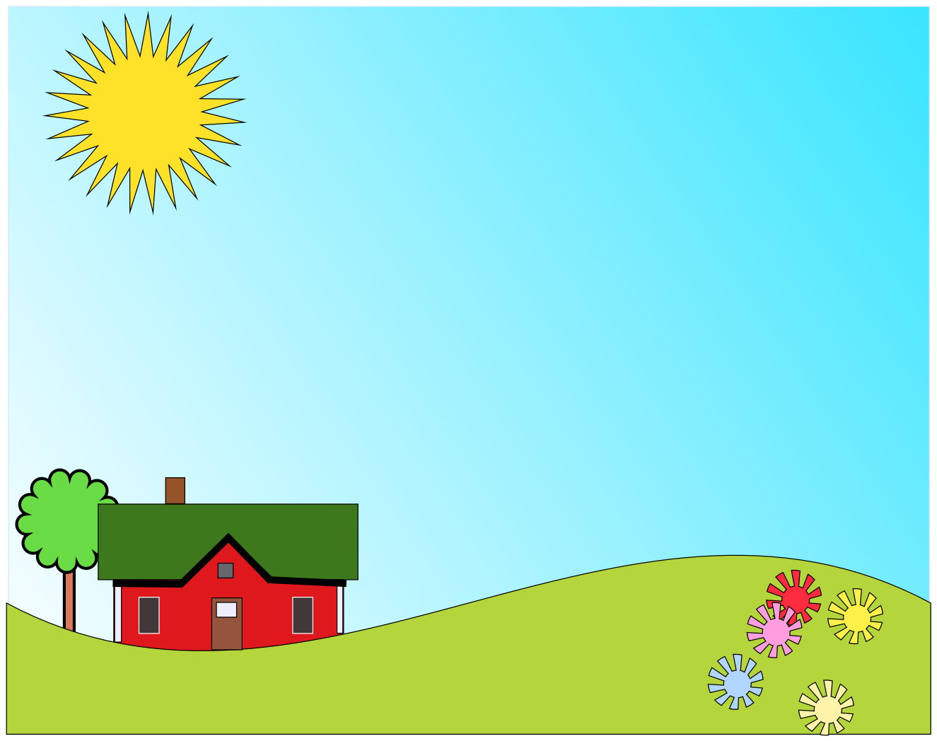 clear skies clip art