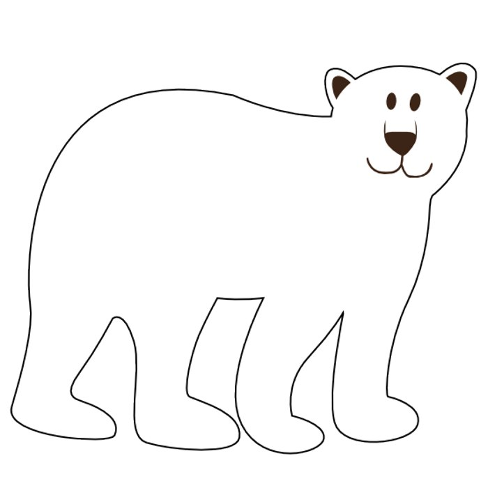 Bear Clipart Black And White
