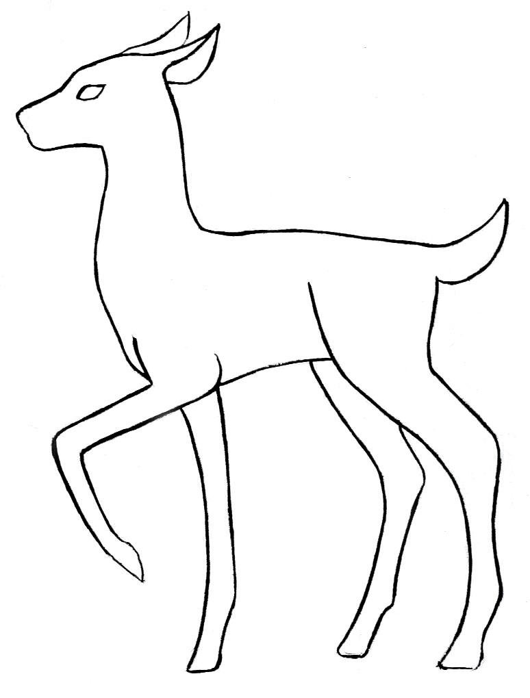 deer line art