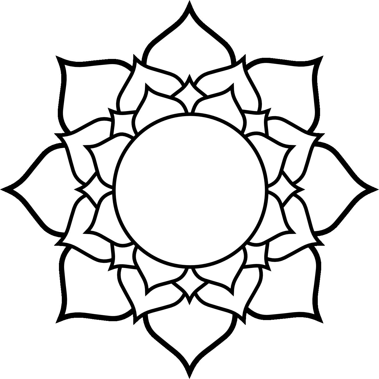 Black White Flower Tattoos Cliparts