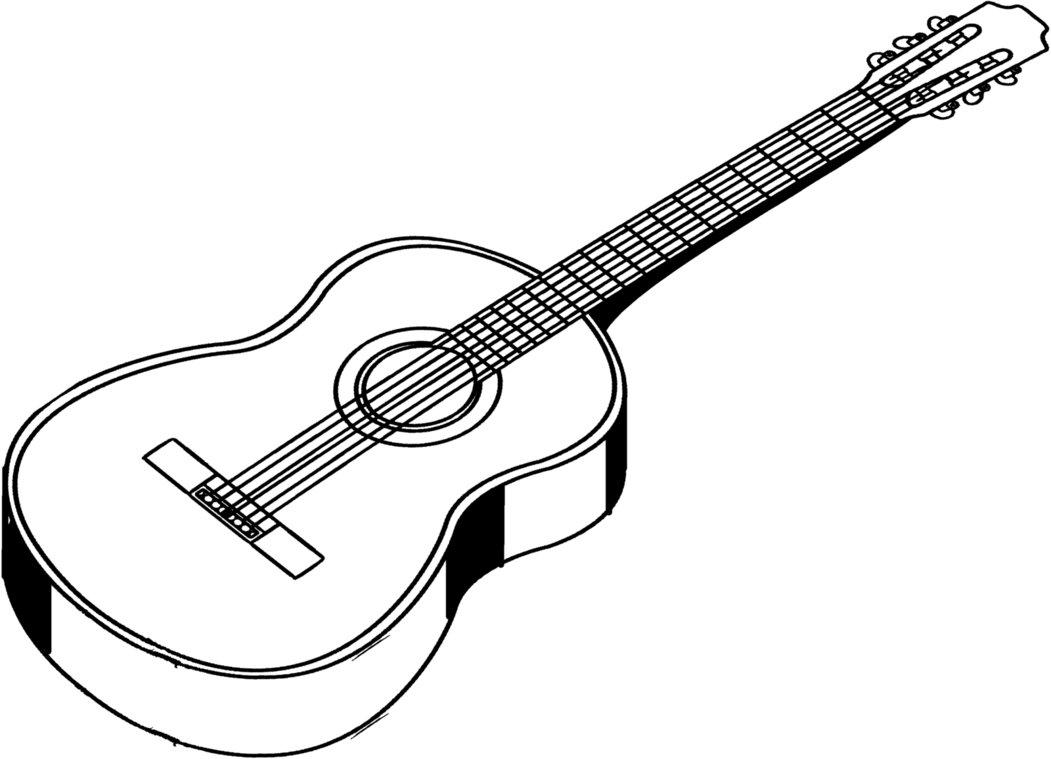 guitar outline clip art clipartsco