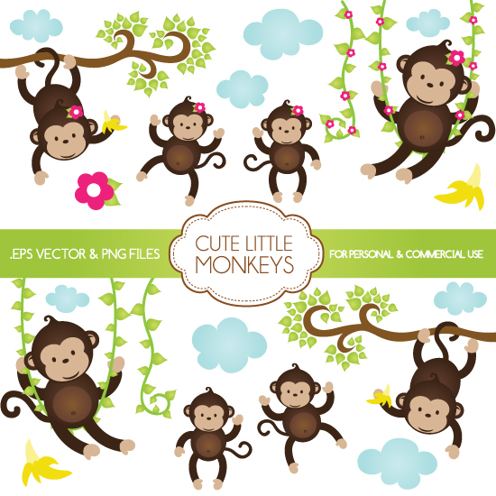 Cute Monkey Graphics Cliparts Co
