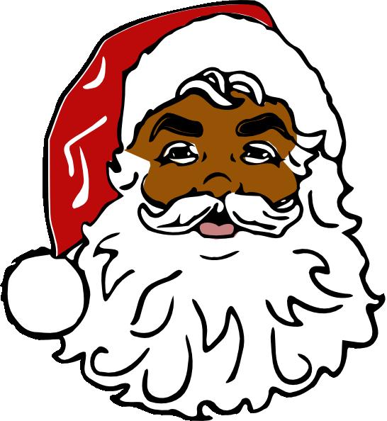 Santa Black clip art - vector clip art online, royalty free ...