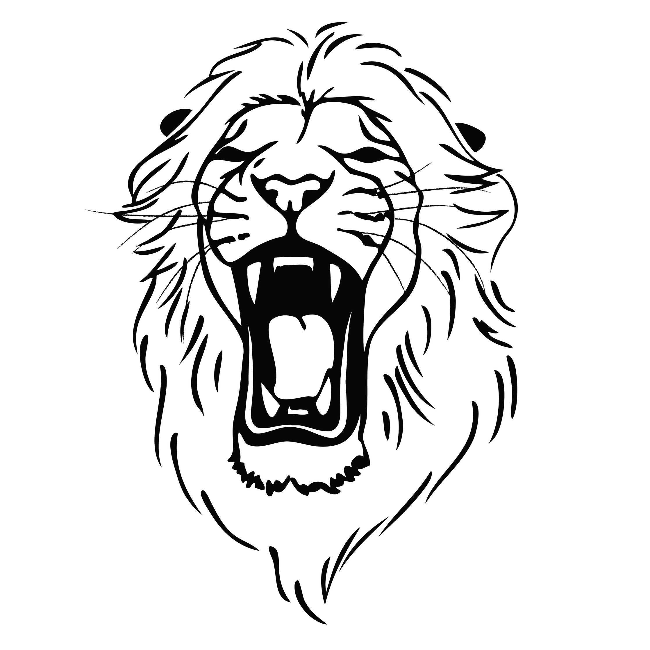 Lion Line Drawing - Cliparts.co