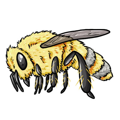 jeanporter - Bees (clipart)