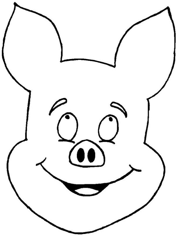Line Drawing Of A Pig Face : Pig outline cliparts