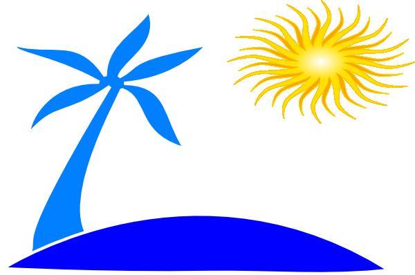free clipart palm tree beach - photo #30