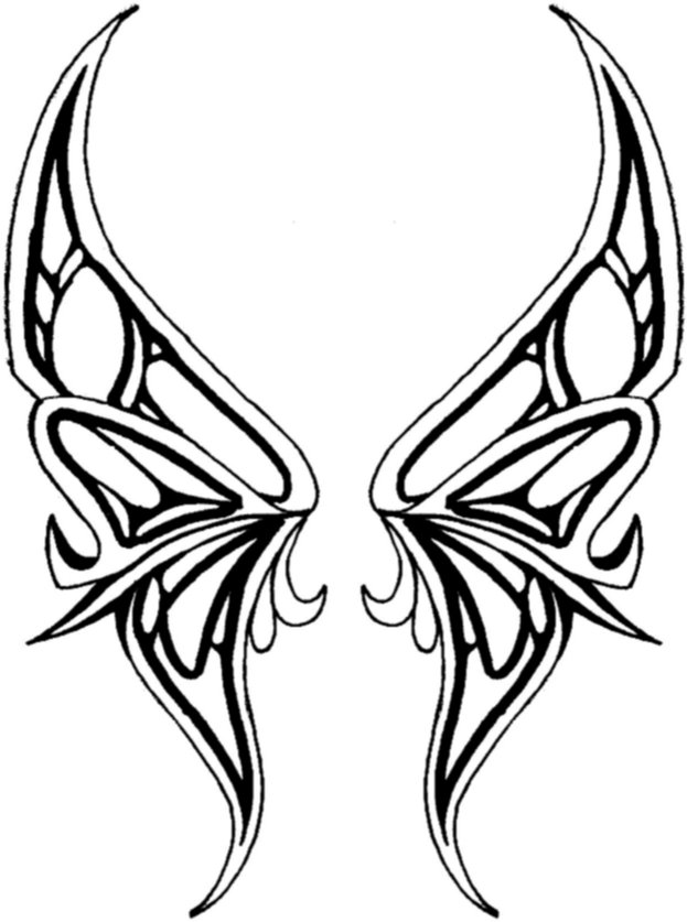 Butterfly Wing Outline - Cliparts.co
