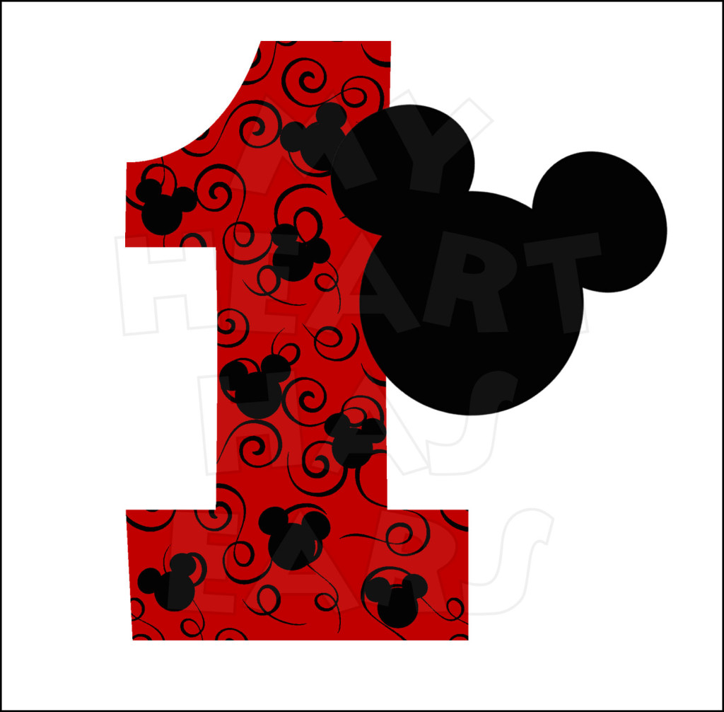Mickey Mouse 1st Birthday INSTANT DOWNLOAD digital clip art :: My ...