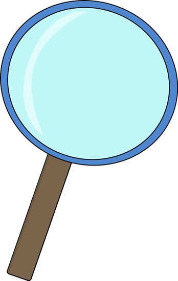 Blue Magnifying Glass Clip Art - Blue Magnifying Glass Vector Image