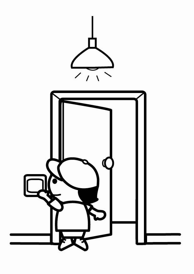 Cartoon Light Switch Cliparts Co Lights Coloring Pages Free