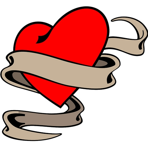 Heart With Ribbon Tattoo Designs | Tattoo Design Ideas ...