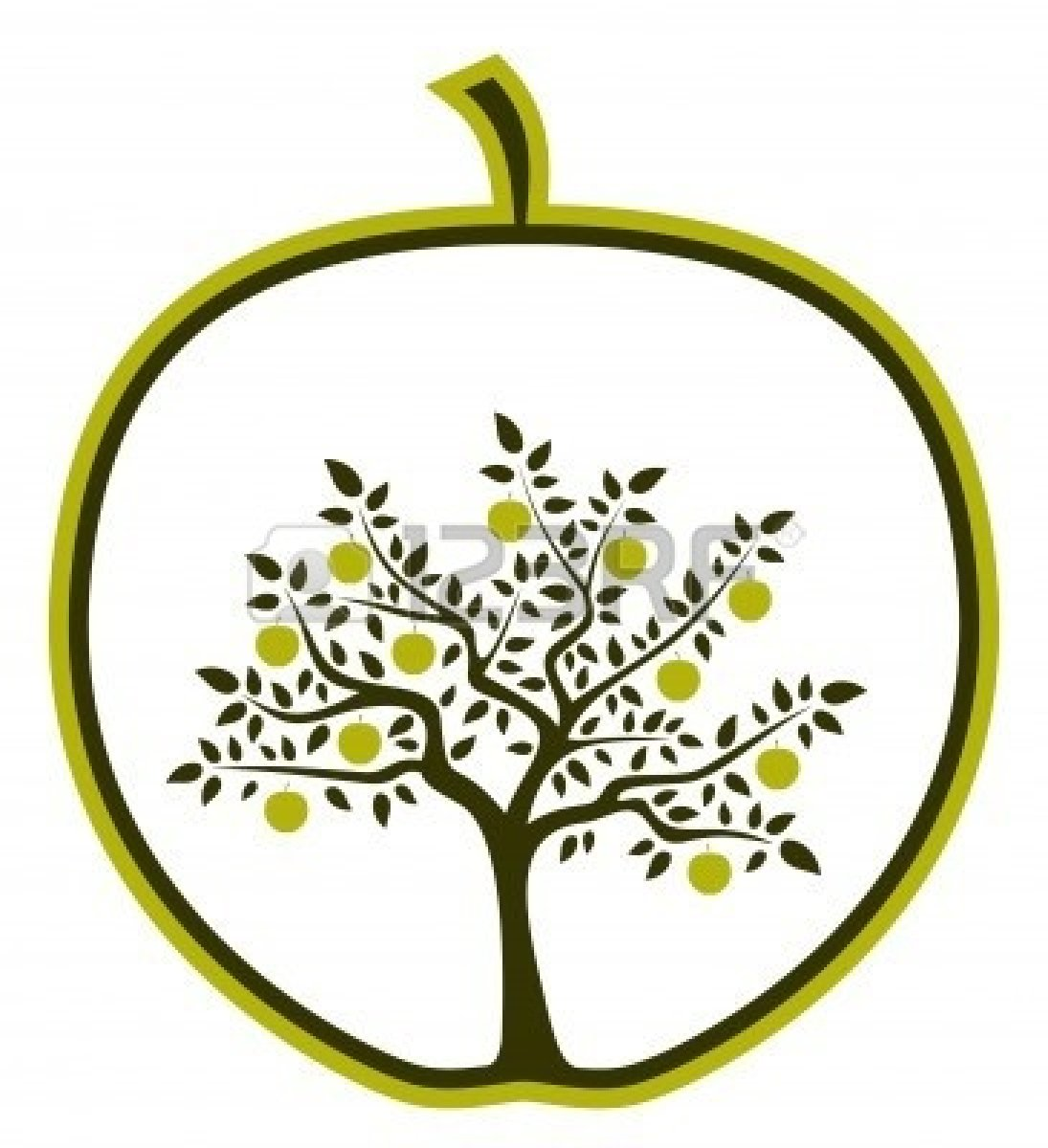 Apple Tree Silhouette - Cliparts.co