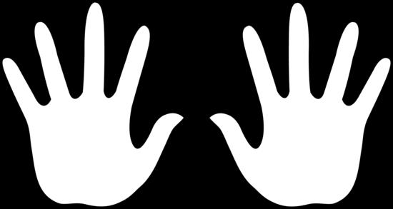 Hand Print Outline Clip Art | Clipart Panda - Free Clipart ...