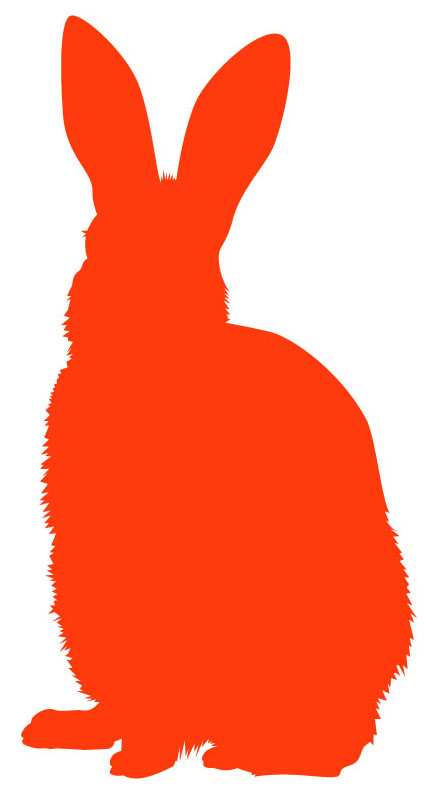 clipart image bunny silhouette - photo #31