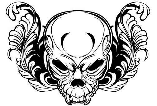 Skull tattoo stencils for Cool designs in black and white