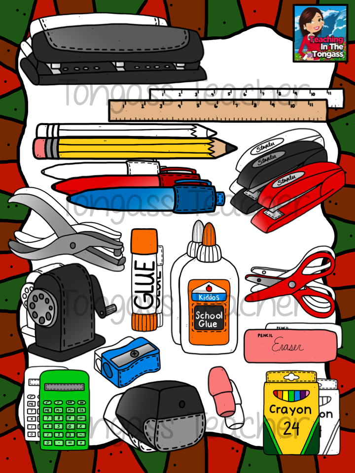 School Things Clipart - Cliparts.co