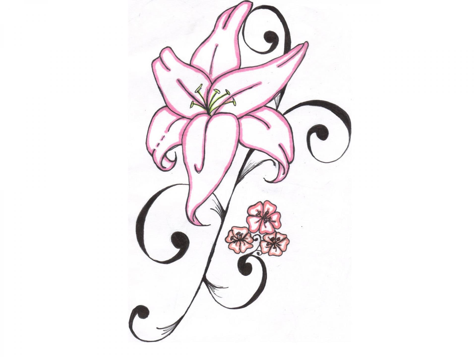cartoon lily flower. Black Bedroom Furniture Sets. Home Design Ideas