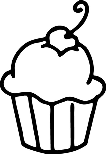 Black And White Cupcakes Clipart Wallpapers | Img Need
