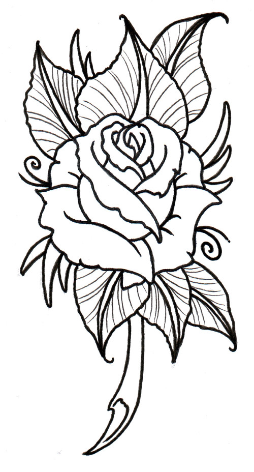 Traceable Roses - Cliparts.co